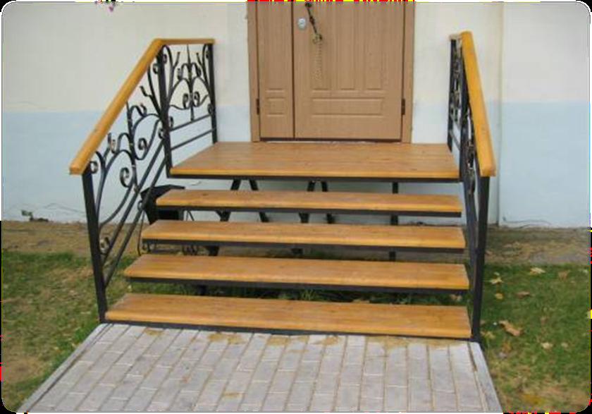 Входная лестница в дом своими руками из дерева