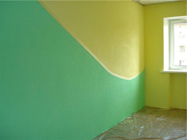 Варианты покраски стен фото