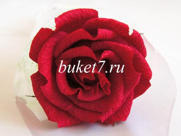 Одна роза из конфет своими руками