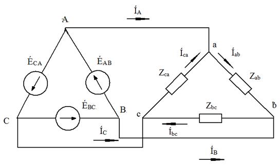 Схема соединений треугольник -