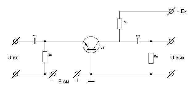 транзисторе с общей базой.