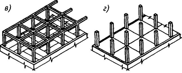 Схемы каркасных зданий