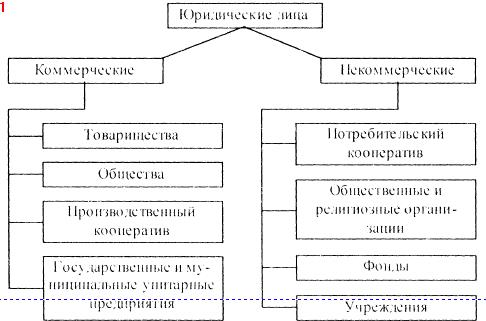 классификация коммерческие и некоммерческие организации