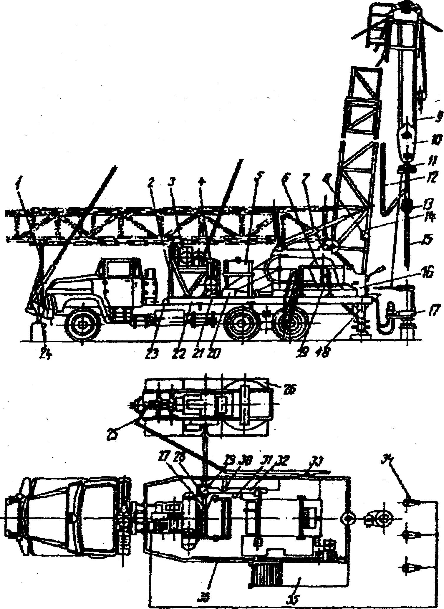 схема передней консольной подвески