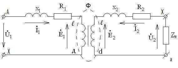 Рисунок 2.4 Схема замещения