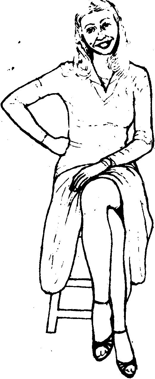 Явные сексуальный язык жестов женщины
