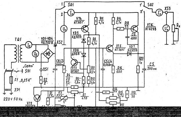 Схемы импульсного сварочного полуавтомата ипс-15