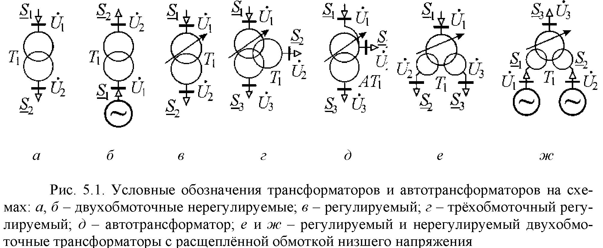 Электрические обозначения на схемах подстанций5