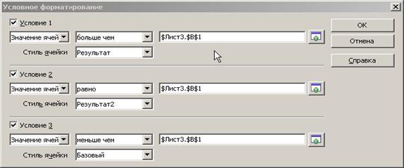 Значение ячейки- если условное форматирование зависит от значения ячейки. .