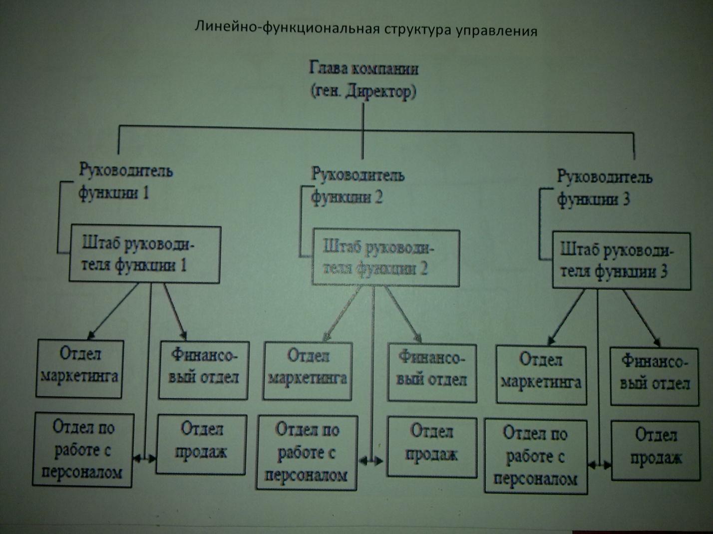 Линейные и функциональные схемы управления предприятия