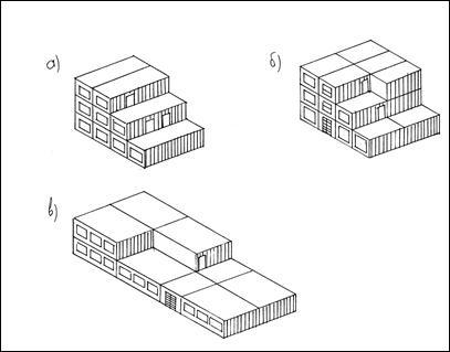 Объемно-блоковая схема дома из