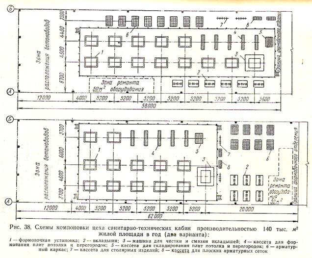 3 показаны схемы компоновок