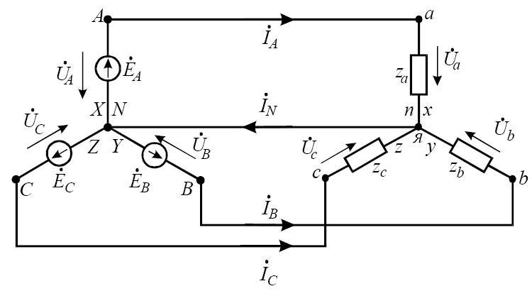 Схема електричного кола при
