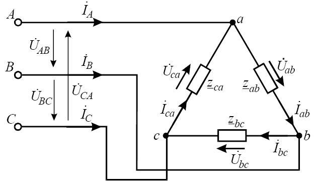 Схема трифазного електричного