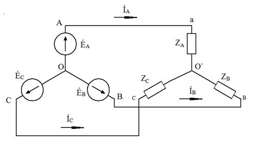 Схема соединений звезда