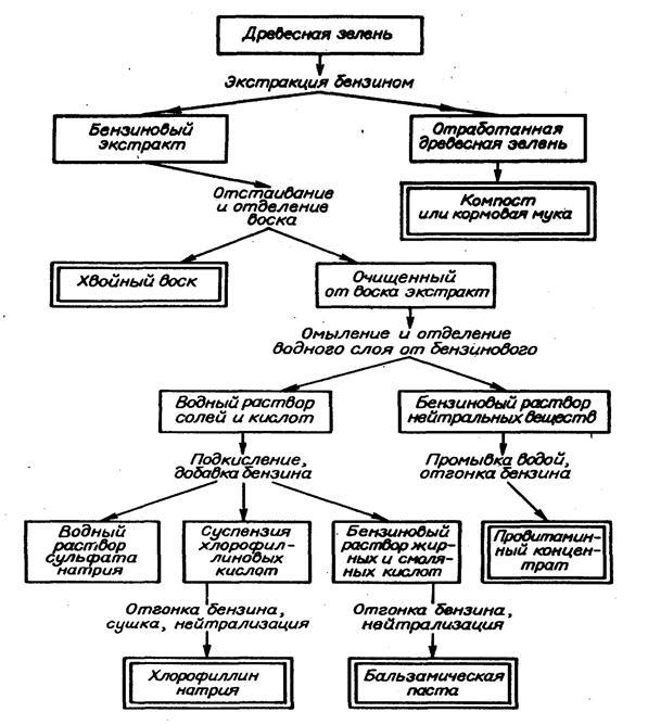 Схема переработки древесной