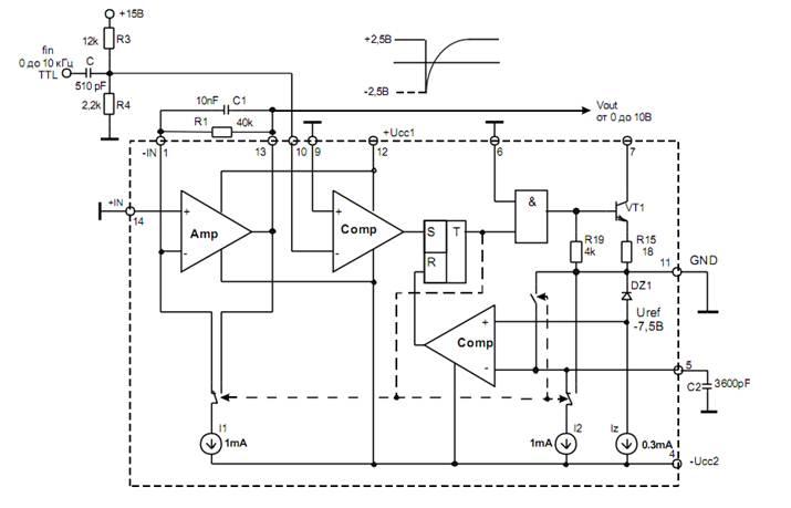 Схема включения микросхемы