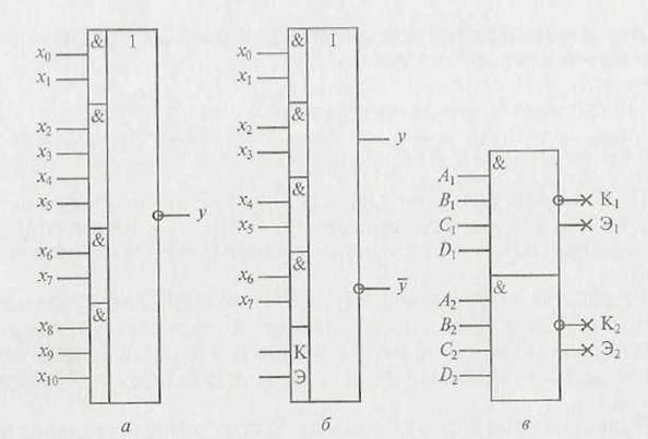 и И-ИЛИ-НЕ: а – 2-4-2-3И