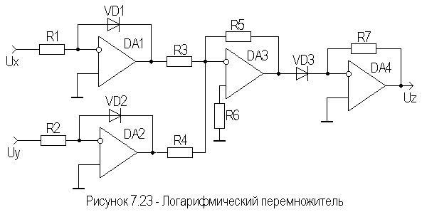 Схема перемножителя сигнала