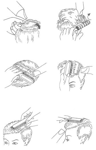 инструкционная карта укладка волос феном