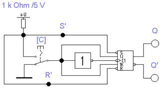 Состояние выхода т-триггера меняется на противоположное при поступлении на его вход счётного сигнала т=1 и