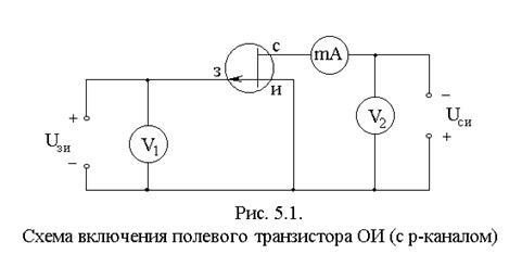 Схемы включения униполярного транзистора