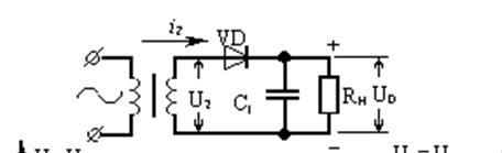 Конденсатор для однополупериодной схемы выпрямителя 101