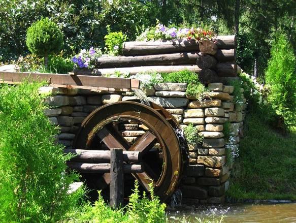 водяные мельницы,