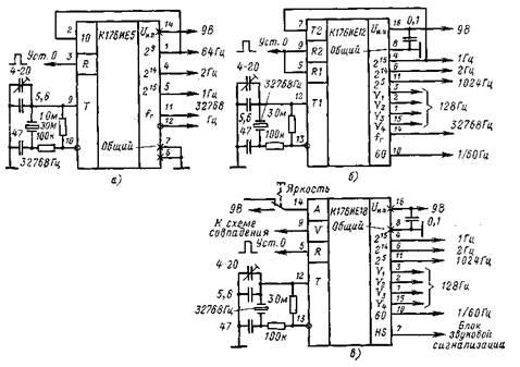 На микросхемах К176ИЕ12