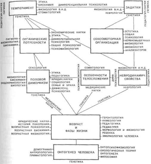 Схема основных проблем и наук