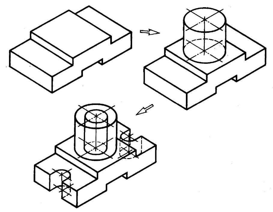 Как начертить изометрию  trividaru