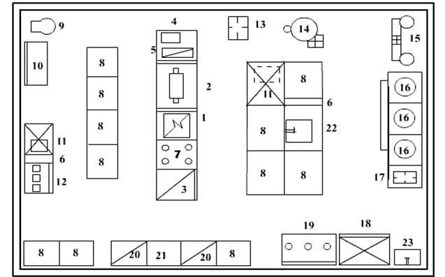 Схема горячего цеха с расстановкой оборудования фото 778