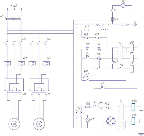 Рисунок 9-Схема электрическая