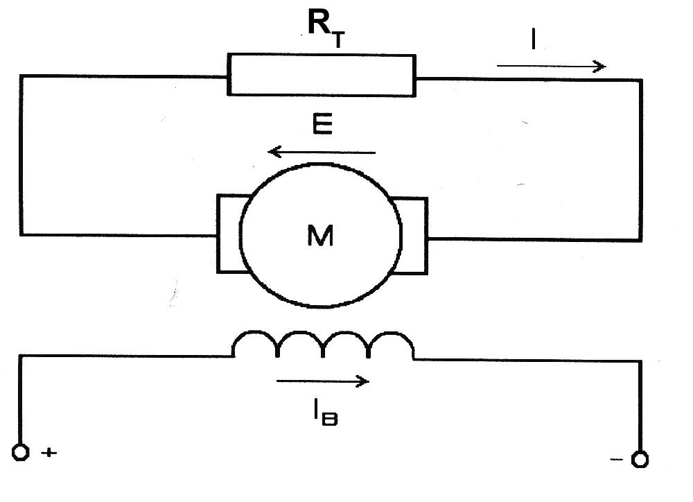 Схема включения ДПТ с НВ при