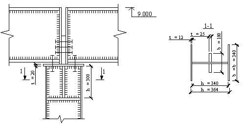 Схема оголовка колонны