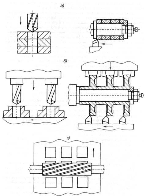 Рисунок 3 – Схемы многоместной