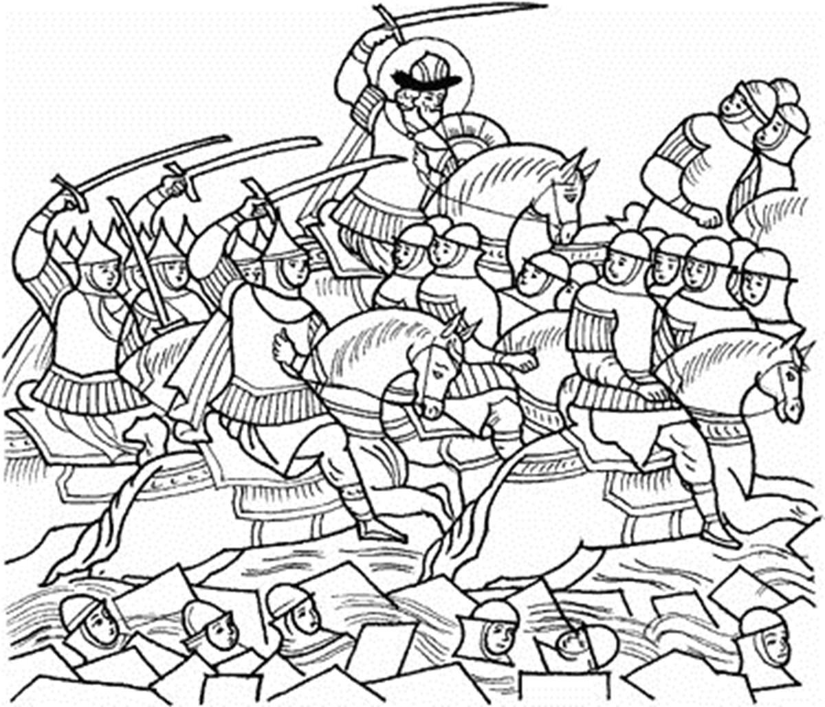 куликовская битва картинка для раскрашивания часы вещь дорогая