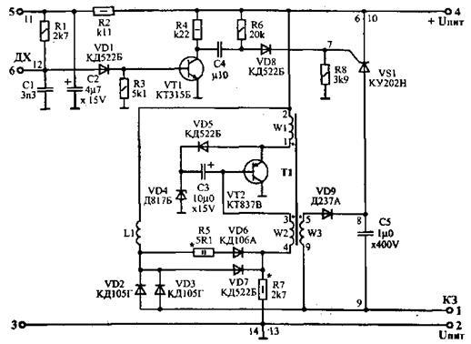 схема коммутатора СЭЗ-1