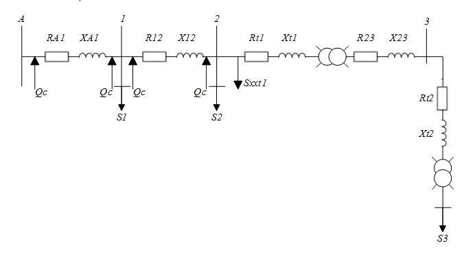 Рис7. Схема замещения