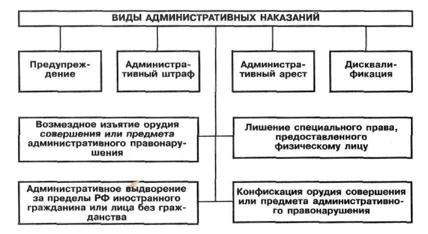 Схема ответственность по административному праву