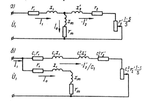 Схемы замещения асинхронного
