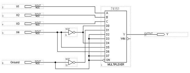 f1(v) на мультиплексоре 8