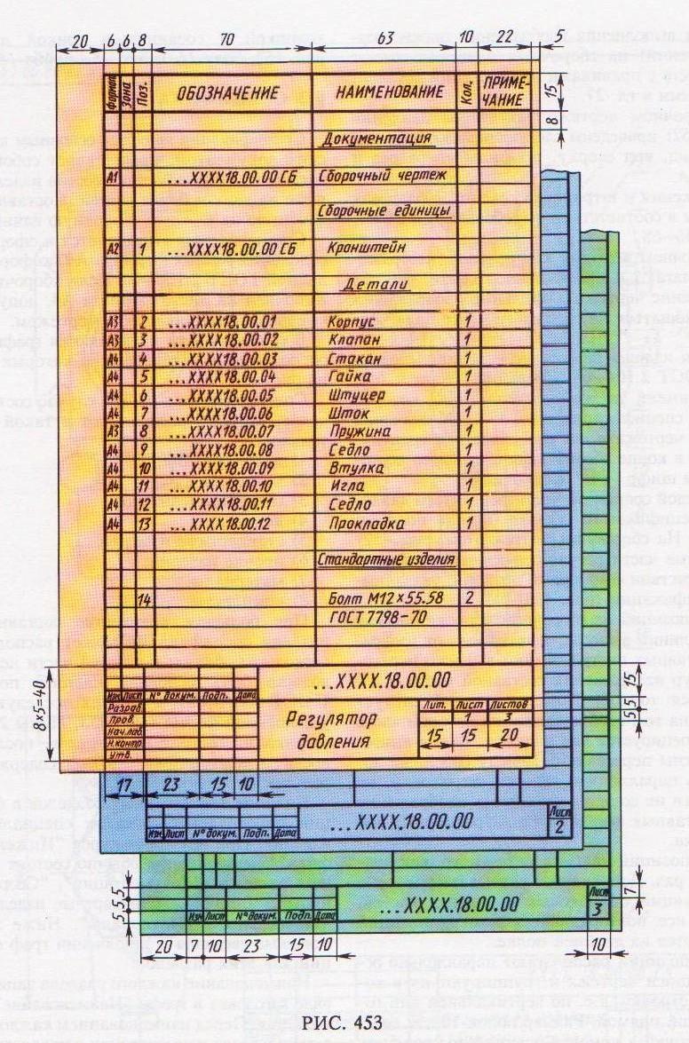 Обозначение сборочных единиц в спецификации