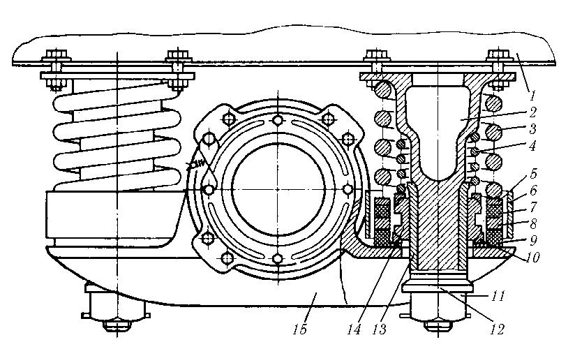 Схема буксового подвешивания