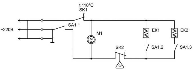 Рисунок 1- Схема электрическая