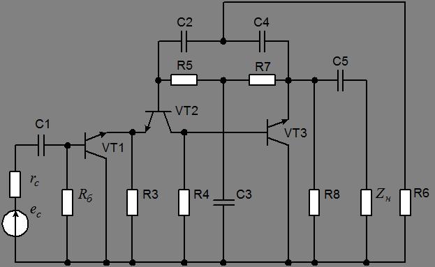 Схема замещения избирательного