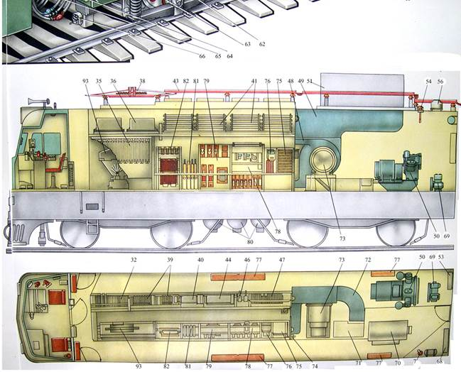 Схема расположения основного