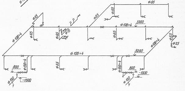 Схема кольцевого противопожарного водопровода4