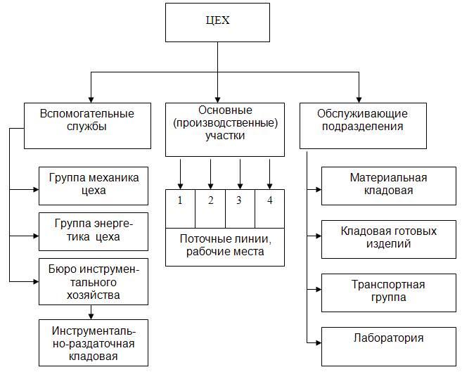 Структура рабочей организации схема
