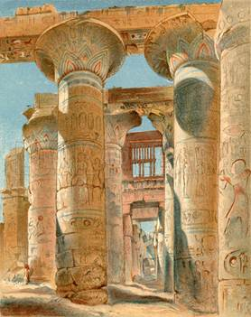 Egyptian revival architecture details